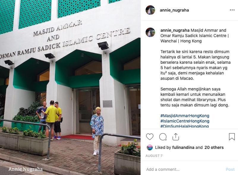 Berkunjung ke Ammar Mosque and Osman Ramju Sadick Islamic Centre di Wan Chai, Hong Kong