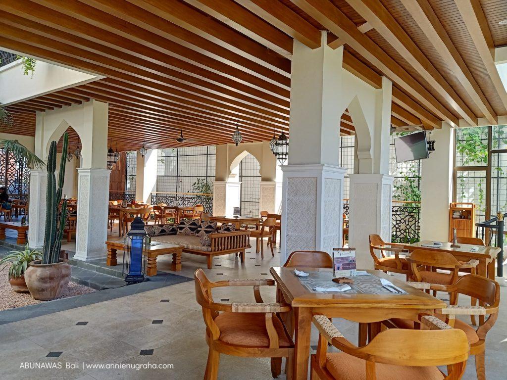 Merasakan Masakan ala Timur Tengah di ABUNAWAS Bali.  Lezat Makanannya.  Cantik Restonya