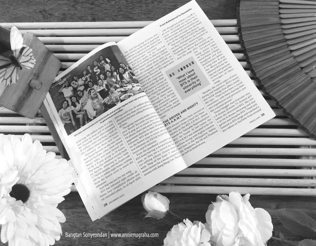 BANGTAN SONYEONDAN 방탄 소년단 di Mata Reader's Digest.  A Force For Good BTS A.R.M.Y